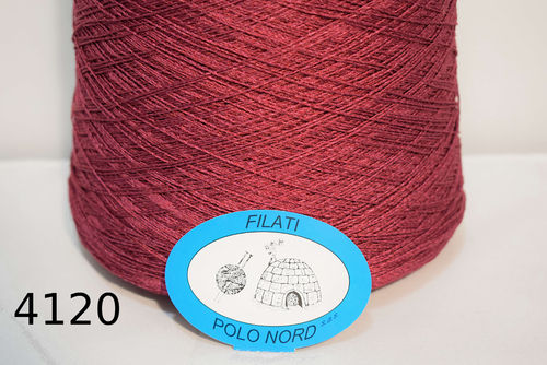 100%seta  Bordeaux 4120 Nm 2/15 100 grammi